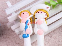 Wholesale Hospital Art - Free Shipping Cute Doctor Nurse Ball Ballpoint Pen for School Office Supplies Hospitals clinics gifts Pen ,250pcs lot