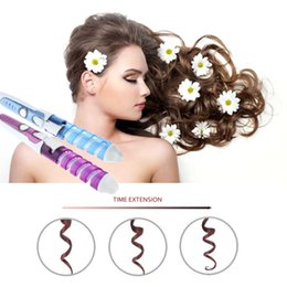 Wholesale Dogs Hair Dryer - New Arrival Hot Tools Anti-scald Curling dog grooming Iron Hair Wand Electric Ceramic Glaze Coating Fast Heating F0090