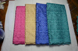 Wholesale Organza Lace Fabric Wholesale - High quality African net lace fabric embroidery guipure lace organza lace fabric for party dress FLP-84