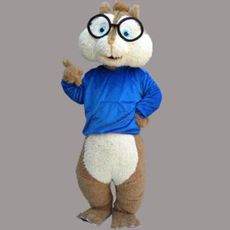 Wholesale Squirrel Mascot Costumes - High Quality Squirrel Mascot Costume Blue Vest Squirrel Cartoon Costume Adult Size Birthday Party Outfit April Fools' Day Fancy