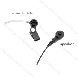 Wholesale Fbi Earpieces - Wholesale-FBI Style Acoustic Tube Baofeng Earpiece UV5R UV-5R Headset with Built in Microphone