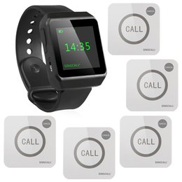 Wholesale Wireless Waiter Call System - SINGCALL Wireless Waiter Calling System for Kitchen, Bar,1 Watch and 5 Touchable Bells