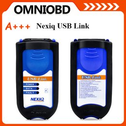 Wholesale Nexiq Bluetooth - 100% High Quality Quality NEXIQ USB 125032 USB Link With All Adapters For Diesel Truck Diagnostic Tool With All Installers