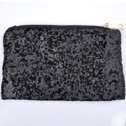 Популярные макияжные сумки онлайн-Wholesale-Popular Fashion New Women Evening Party Handbag Clutches  Bags Glitter Sequins Dazzling Cosmetic Bag Pouch WQB1057W*57