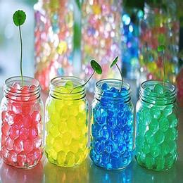 Perline aqua all'ingrosso online-All'ingrosso-2016 Cute Fun Design Acqua Aqua Crystal Soil Wedding Gel palla perline Vaso centrotavola