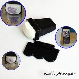 Wholesale Metal Stamping Tools Wholesale - 10SET LOT Nail Art Image Silicone Stamper Soft Transfer Stamper with Metal Scraper Nail Art Stamping&Scraper Manicure Nail Tools #X007