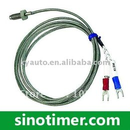 Wholesale Thermocouple Temperature Probe - Wholesale-2PCS Lot Thread M6 Screw Probe Temperature Sensor Thermocouple K Type Measuring 0-400 Degree 2m Cable for PID Controller