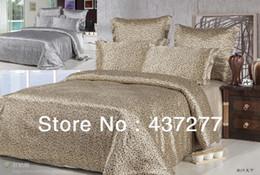 Wholesale Leopard Quilt Comforter Set - Wholesale-luxury sexy leopard print bedding sets textile silk&cotton fabric full queen bed sheet duvet quilt cover bed linen comforter