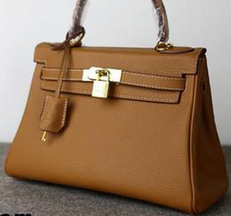 Wholesale Ladies Leather Shoulder Bags Uk - leather handbag women bag Paris purse US EUR tote shoulder bags lady wedding original SG UK France IT wallet Togo multi genuine