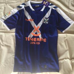 Wholesale cf shirt - thai quality 2017 2018 Tenerife CF home white soccer jersey 17 18 free ship football Jerseys shirts