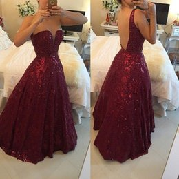 Wholesale Long Classy Evening Backless - Classy Beaded Backless Evening Dresses A-Line Sheer Plunging Neck Sequined Prom Gowns Floor Length Long Formal Dress