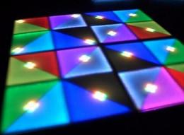 2019 pistas de baile llevadas Panel LED RGB Dancing Dance Floor Etapa del partido KTV luz del disco de DJ del club de las luces 720pcs LED de color Efecto Cambio de suelo Luces LED para efectos rebajas pistas de baile llevadas