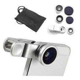 Wholesale Macro Lens Digital Camera - Magnetic 3 in 1 Wide Lens + Macro Lens + 180 Fish Eye Lens for iPhone 4 4s 5 5s 5c 6 Samsung Galaxy HTC LG HTC Sony Digital Camera