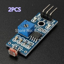 Wholesale Light Sensor For Arduino - 2Pcs lot Light Sensor Module Photoresistor Module Seek Light Module For Arduino Smart Car Free Shipping order<$18no track