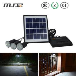 Wholesale Solar Panel Energy System - Energy Saving Solar Led Lights Bulb Outdoor New Solar Panel Lighting System with 3 Bulbs for Indoor Outdoor