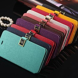 Wholesale Cards For Words - D word buckle Oracle lines case with cards slots Flip Leather Case Cover Credit Card Holder Deluxe D Button for iphone6 4.7