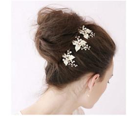 Wholesale Cheap Silk Flower Pins - 2015 ramos de novia Cheap Bridal Tiaras Hair Accessories with Rhinestones 2015 Jewelry Fascinators Hairpieces Bridal Pin