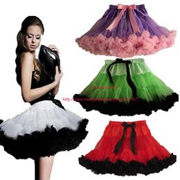 Wholesale Womens Green Tutu Skirts - 2016 New Style Adult Teen Girls Pettiskirt Womens Green With Black Party TuTu Skirts Ruffle S M L Free Shipping Retail 1 PCS