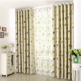 Wholesale Curtains Dining Room - New Arrival Rustic Window Curtains For Dining Room  Kitchen Blackout Curtains Floral Window Treatment  drapes Free shipping