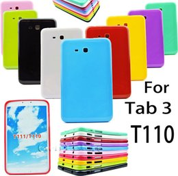 """Wholesale Galaxy Tab3 Tablet - TPU Slim Silicone Rubber Case Cover For SAMSUNG Galaxy Tab 3 7.0"""" 7"""" Tablet T110 T111 Free Shipping"""