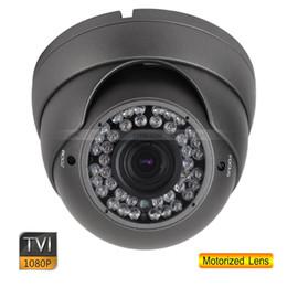 Wholesale 12mm Dome Cctv Camera - HD TVI 1080P CCTV Metal Dome Camera 2.0 MP 2.8-12mm Motorized Lens OSD Menu