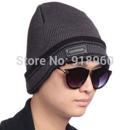 Wholesale Korean Beanie Men - Wholesale-Korean design winter knitted beanies mens beanie hat,new classic warm knit hat outdoor recreation fashion head cap,CFL