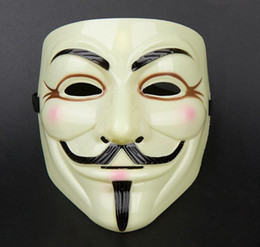 Wholesale Vendetta Masks For Sale - Hot sale Halloween Mask V for Vendetta Mask Anonymous Guy Fawkes Fancy Dress Adult Costume Accessory Party Cosplay Masks