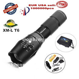 Wholesale Car Charging Flashlight - E17 G700 X800 CREE XML T6 LED 2000Lm cree adjustable led Torches Zoomable LED Flashlight Lamp+1x18650 Battery car charge holster