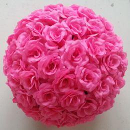 Wholesale Black Roses Bouquet - The diameter of 15cm artificial flower silk rose balls artificial flower bouquet decoration rose ball wedding decoration
