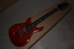 Wholesale 12 String Left Handed - Factory Wholesale and Retail 12 string Left Handed Paul Reed brown Electric Guitar China guitar factory