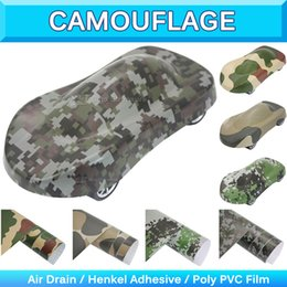 Wholesale Digital Camo Wholesale - Military Camo Woodland Vinyl Sticker Camouflage Vinyl Sheet Truck Wrap Decal Desert Digital Camo Vinyl Realtree Air Free1.52x30m
