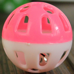 Wholesale Cheap Promotion Toys - Wholesale-Promotion Cheap Lovely Tinkle Bell Ball Pet Toy Plastic Dog Cat Playing Ball Good Quality Stocked