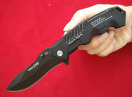Wholesale Cold Steel Knife Recon - Top quality Cold steel 217 Folding knives Recon 1 Code-4 Spear Point 7Cr17 Steel Black Plain EDC tactical knives with retail box B571M