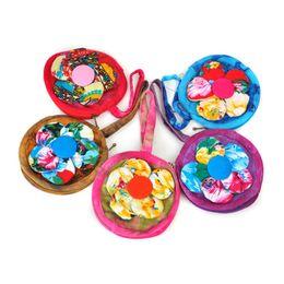 Wholesale Tie Dye China - Fashion ethnic tie-dye cloth bags art small children bag flower handbags small flowers China cloth bag wholesale specialty cloth bag