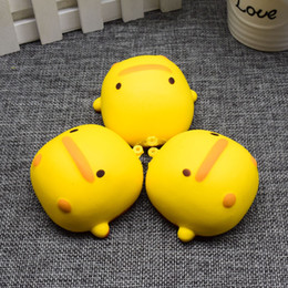 Wholesale Wholesale Mascot Charms - Kawaii Cute Mascot Duck Phone Straps Squishy Slow Rising Scented Sweet Cream Charms Bread Kids Toy Gift Wholesale
