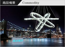 Wholesale Contemporary Crystal Chandeliers Sale - 2015 Hot Selling Hot sale Diamond Ring LED Crystal Chandelier Light Modern Pendant Lamp 3 Circles 100% Guarantee different size position