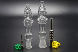 Wholesale Nails Technology - 10mm 14mm mini Nectar Collector kit smoking water pipes mini glass bongs Micro NC switch-hit technology vape with Titanium nail