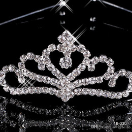 Wholesale Crown Tiara Hair Combs - 017 Cheap 18030 Crowns Popular Hair Accessories Comb Crystals Rhinestone Bridal Wedding Party Tiara 4.13 inch*1.18 inch Free Shipping