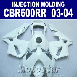 Wholesale repair body - 7Gifts!Injection Molding all white one for HONDA CBR 600RR fairing 2003 2004 cbr600rr 03 04 body repair parts OXSF