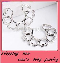 Wholesale Nipple Piercing Shield - Punk Steel Shield Nipple Ring Body Piercing Jewelry New Heart Copper Non Piercing
