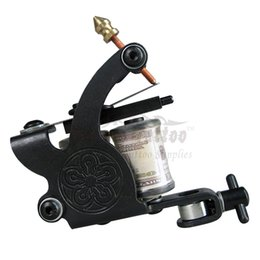 Wholesale Top Handmade Tattoo Machine - Solong Tattoo Professional Top Handmade Tattoo Machine Gun 8 Wraps Coil for Shader and Liner MCY001-18