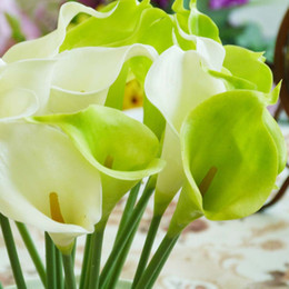 Wholesale Egyptian Calla Lily - New 35cm PU Callas Lily Elegant Egyptian Artificial Calla Lily Flower for Wedding Bridal centerpieces Decorations