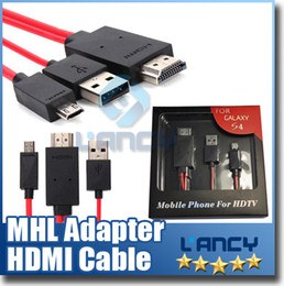 Wholesale Micro Hdmi Cord - 2M 6FT Micro USB MHL Adapter HDMI Cord Cable Micro USB To HDMI Cable For Samsung Galaxy\Note4\HTC\Huawei\Lenovo