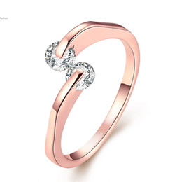 Wholesale Brand Diamond Jewellery - 2016 Lekani Diamond Vintage Finger Rings K Rose Gold Plated Fashion Brand Wedding Jewellery Jewelry For Women Wholesale 58