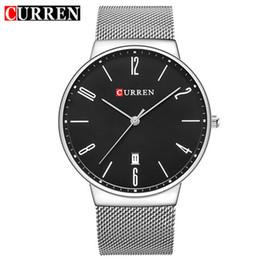 Wholesale wrist wach - CURREN Fashion Wach Wrist male Watches Men date Quartz Watch Ultra thin Dial Clock Man Relogio Masculino 8257