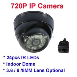 Wholesale Onvif Dome - Free Shipping 1.0MP 720P IP Camera Network P2P Onvif Indoor Security Dome Night Vision Wholesale