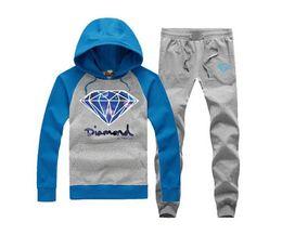 diamants hauts hoodies Promotion s-5xl 8774 Diamond co à capuche + pantalons mens automne hiver haute marque de mode Plus velours Hoodies