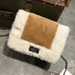 Wholesale Female Smell - Qiu dong new style small smell of wind MAO MAO MAO bang color female bag fashion a single shoulder small square bag