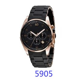 Wholesale Silicone Chronograph Watch - Top Luxury Brand Men's Watch AR5890 AR5890 AR5905 AR5906 Watches silicone Stainless steel strap Watch Women Fashion chronograph Watch Lovers