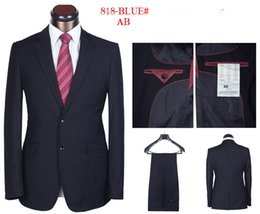 Wholesale Suit Buttons For Sale - Wholesale-Hot Sale!!! 2015 new fashionable men suits brand design handsome blazers black gray blue classic two button suits for men